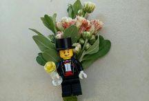 Lego's groom corsage