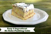 No bake pudding cake