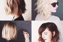 halvlångt hår
