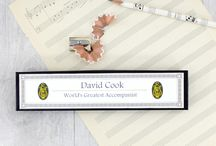 Teacher Gifts - Thank You Gifts for the Best Teachers / Teacher Appreciation Gifts. Best Teacher Gifts. Book pencils. Music Teacher Gifts. End of Year Gift for your Favourite School Teacher