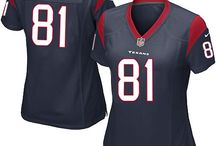 Owen Daniels Nike Jersey – Authentic Elite Texans #81 Blue White Jersey