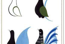 роспись птицы