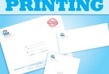 ENVELOPE PRINTING / We have been doing a lot of cool digital short-run envelope printing recently. We have a digital envelope printer that is great for 4- color envelope printing
