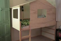 Housebeds / Bunkbeds with playhouses