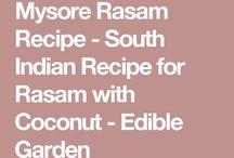 Mysore Rasam Recipe - South Indian Recipe for Rasam with Coconut - Edible Garden