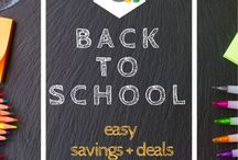 Back to school / Time to get your kids back to school ready.  These tips, tricks, and deals will make back to school season simple.