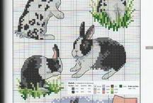 Cross stitch Bunny.