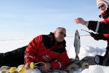 Ice-Fishing in Lapland / Do you like fishing? what about winter ice-fishing in Lapland? Drill a hole in the ice and... good luck!