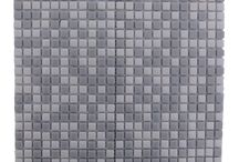 "Full Body / Full Body is an assortment of 1/2"" marble glass pieces arranged in a checkered pattern; a nice twist in comparison to traditional non-mosaic backsplash tiles."