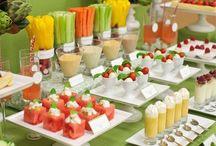 mesas de frutas