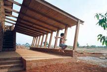 madera y bambu