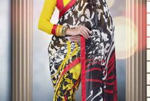 Georgette sarees in floral prints. / Georgette Saree Comprising Floral Print with Blouse piece aspiring the elegance in you.