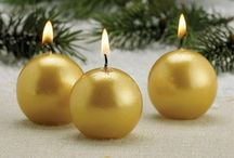 Christmas Candles / Use these Christmas candles to decorate your home this holiday season.