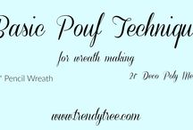 How to make Pouf Wreath
