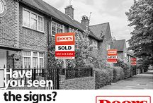 Street Scene leaflets / Our 'street scene' #flyers are designed to draw attention to your #agency boards, helping potential customers to easily recognise you as a trusted, local estate agent. #estateagent #leafletdesigns #realestate