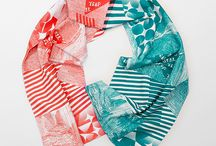 Longstory Scarves / Organic cotton handprinted scarves. Designed and printed in Warsaw.