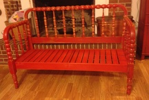 Bench from Jenny Lind crib
