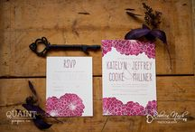 Quaint Paper Co. / Quaint Paper Co. is a London Ontario Wedding Stationery offering stunning hand painted designs from artist and CEO Tammy Pulinec. / by Rebecca Nash Photography