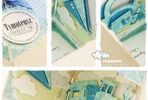 самодельные украшения для открытки, альбома