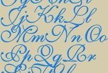 kaligrafie / handlettering / typografie / chalkboard art / uitleg, fonts, lettertypen, voorbeelden e.d.