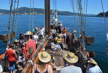 Festival SinSal #SinSalSonEG / Festival Sin Sal en el que participamos con un viaje en goleta, gastronomía, música en directo y travesía por la Ría de Vigo