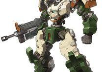 robot / robot, mecha, brigada ligeira estelar, ble