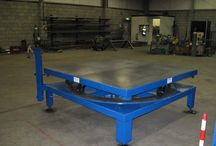 Fabrication Services / We provide an fabrication service for the design and fabrication of bespoke pieces of industrial equipment. Items include heavy duty turntables, jigs and loading equipment.