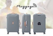 PLUGGAGE / DELSEY is presenting our premiere concept of luggage that's connected: Pluggage.