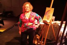Painting Watercolors on Stage / Fund-raiser where I painted watercolors to auction off same night