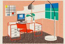 Interior Illustrations / Hand or digital illustrations of interior scenes