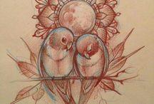 Влюблённые голубки