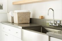 laundries, bathrooms and kitchens