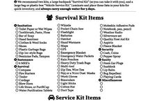 Vehicle Survival Kit Checklist and Items