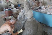 Статуи из бетона