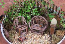 jardin dans plat