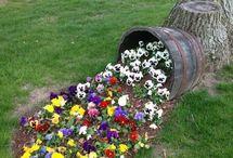 virágos kert