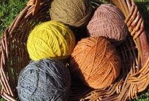 yarn flower dyeing / Natural plant flower dyeing  yarn natrual colours