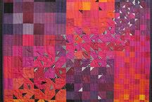 Hand dyed fabrics in QUILTS