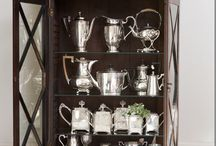 Silver collection displayed