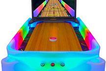 shuffleboard bowling arcade game