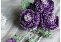 crochet flowers & stuff