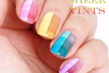 """Sheer tints by OPI / Nail art ideas for using the """"sheer tints"""" nail polishes."""