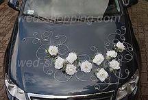 Mariage Voiture / Idées de décoration / mise en scène de voiture pour le mariage