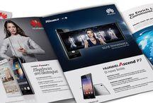 HUAWEI // ADVERTISING / Huawei's advertising material.