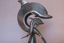 sculture métal