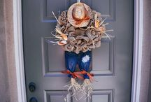 Fall wreaths and crafts