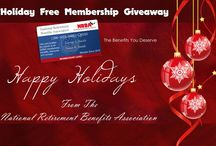 FREE ANNUAL NRBA MEMBERSHIP Holiday Giveaway / Get Your FREE Annual membership in the National Retirement Beneftis Association - Included a free trip to Las Vegas