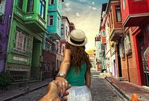 "Follow me to...Amazing photography! / ""Follow Me"" photography series by Murad Osmann. Photos are shot in different locales of girlfriend leading the photographer by the hand."