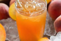 Peach tea and other cold drinks