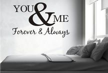 "You & Me Forever & Always ""Wall Art"" by Happi Home / Wall Art by Happi Home. Purchase yours today! Visit: https://happihome.com.au/store/#!/YOU-&-ME/p/71548450/category=20476860 Measures approximately:  750mm x 450mm Available Colours:  Black, White, Red & Turquoise  Made with Premium Cast Avery Wall Vinyl. Comes with easy to follow step by step instructions. Application tape applied to allow for easy installation."
